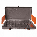 KUMA Outdoor Gear Deluxe 2-Burner Propane Stove - Graphite/Orange