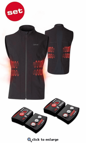 Lenz Heat Vest 1.0 for Men w/ rcB 1800 Battery Packs