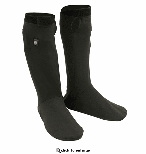 Milwaukee Leather 7.4V Men's Heated Sock Liners w/ Top & Bottom Heating Elements