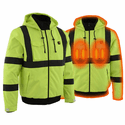 Milwaukee Leather 7.4V Men's High Viz Green Textile Jacket w/ Front/Back Heating Elements