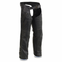 Milwaukee Leather Men's Chaps with Cool Tec Leather & Zippered Thigh Pockets