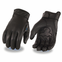 Milwaukee Leather Men's Leather Gloves with Cool Tec Technology