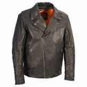 Milwaukee Leather Men's Lightweight Triple Stitch Extra Long Beltless Biker Jacket