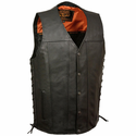 Milwaukee Leather Men's Straight Bottom Side Lace Vest