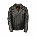 Milwaukee Leather Men's Tall Utility Pocket Vented Cruiser Jacket