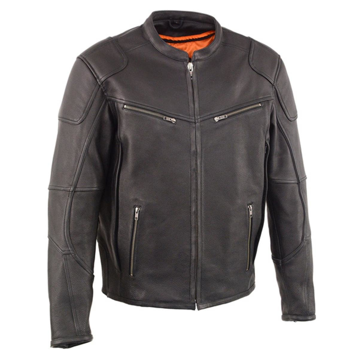 a27d5f0de Milwaukee Leather Mens Vented Scooter Jacket with Cool Technology