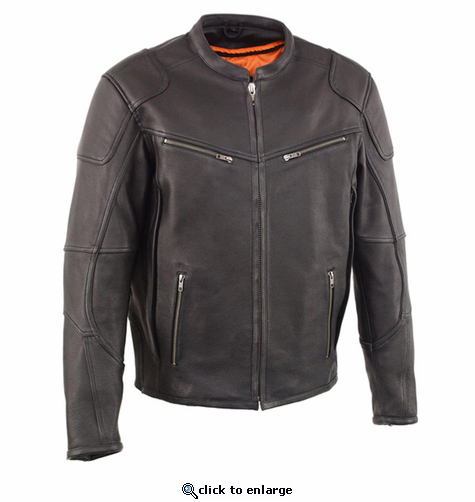 Milwaukee Leather Men's Vented Scooter Jacket with Cool Technology