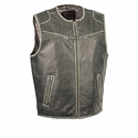 Milwaukee Leather Men's Vintage Distressed Zipper Front Vest