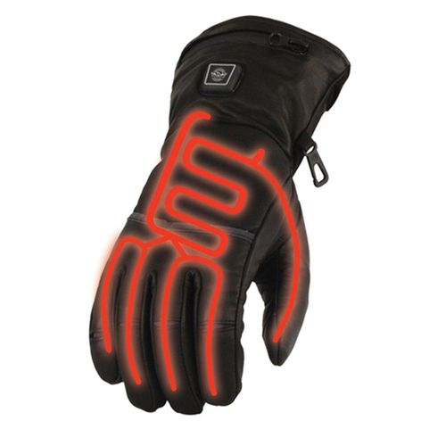 Milwaukee Leather Men's Waterproof Heated Gauntlet Gloves with Battery Kit
