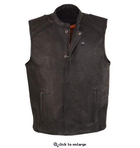 Milwaukee Leather Men's Heated Vest - 12V Motorcycle