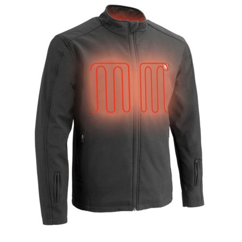 Milwaukee Leather 12V Men's Heated Soft Shell Jacket with Front & Back Heating Elements