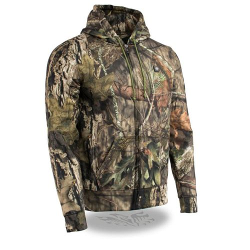 Milwaukee Leather 12V Mossy Oak Camo Heated Hoodie with Front & Back Heating