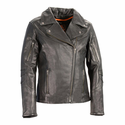 Milwaukee Leather Women's Lightweight Long Length Beltless Vented Biker Jacket