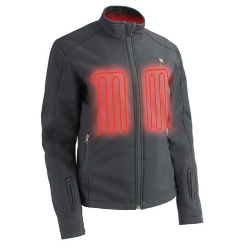 Milwaukee Leather 12V Women's Heated Soft Shell Jacket with Front & Back Heating Elements