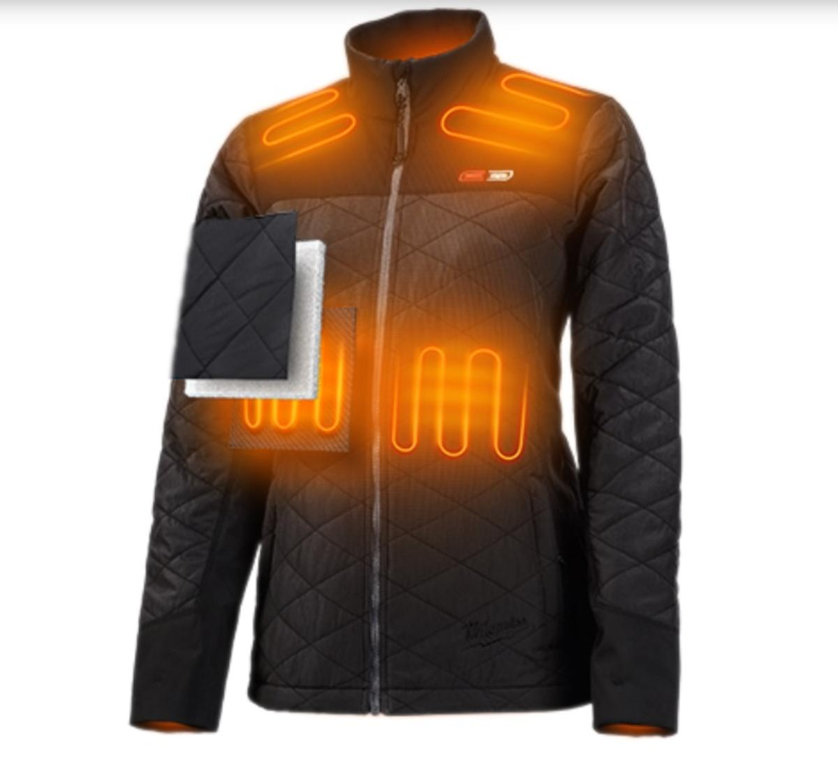 Battery Heated Clothing >> Milwaukee M12 Womens Axis Heated Jacket Kit With Battery