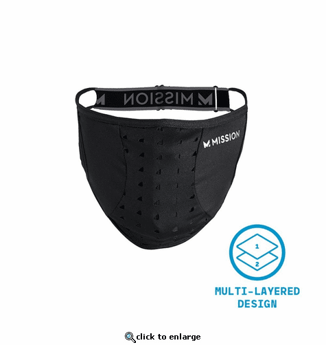 Mission Adjustable Sport Mask - Assorted (Black/Grey)