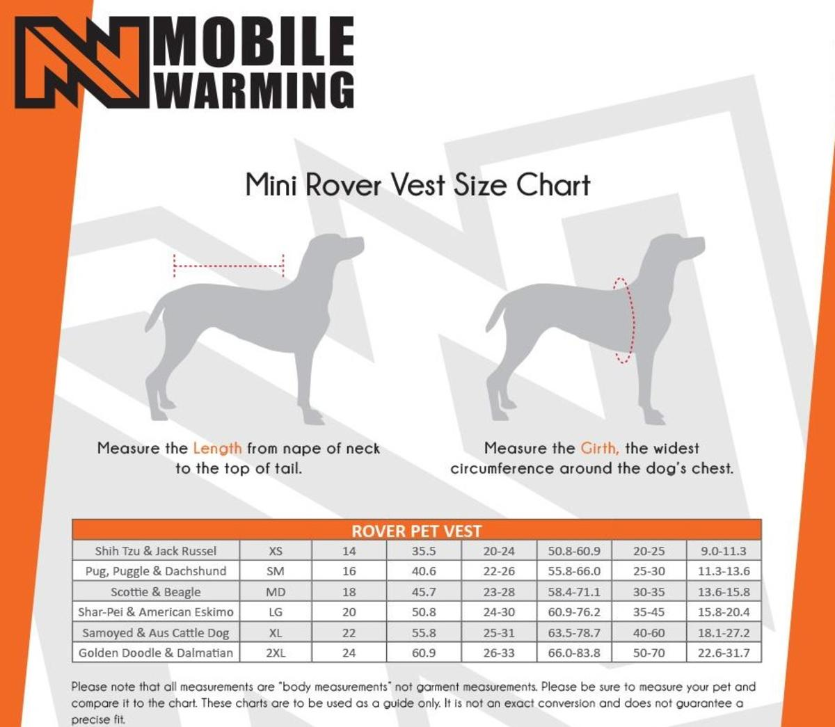 Mobile Warming 7.4V Rover Heated Dog