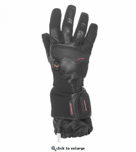 Mobile Warming Barra Leather/Textile Heated Gloves - 12 Volt Motorcycle
