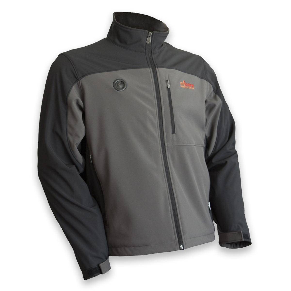 fe3687df8daa3 MyCore Control Women's Battery Heated Softshell Jacket - Black/Grey - The  Warming Store