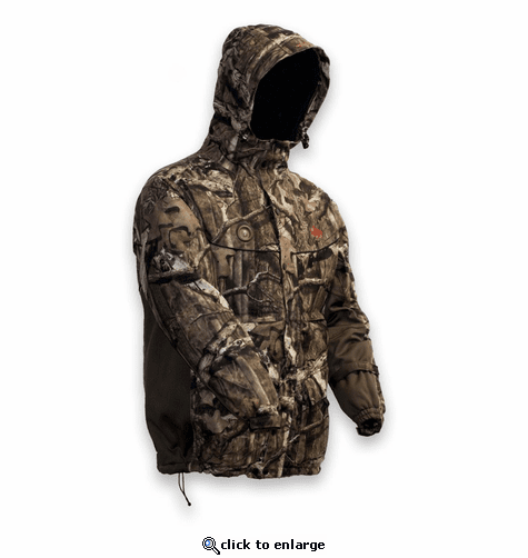 MyCore Control Men's Battery Heated Hooded Parka Mossy Oak Break-up Infinity