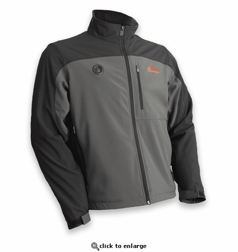 MyCore Control Women's Battery Heated Softshell Jacket - Black/Grey