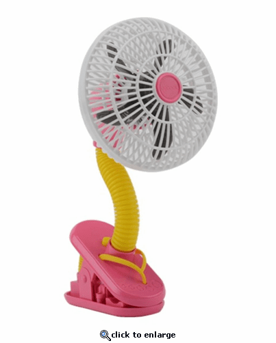 O2 Cool 4-Inch Battery Operated 4 Inch Clip on Fan - Flip Flop