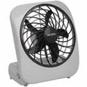 "O2 Cool Treva 5"" Battery Operated Portable Fan - Grey"