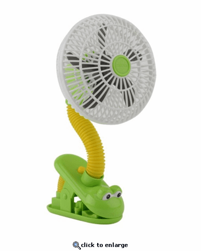 O2 Cool Battery Operated Clip Frog Fan