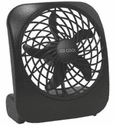 "O2 Cool Treva 5"" Battery Operated Portable Fan - Black"