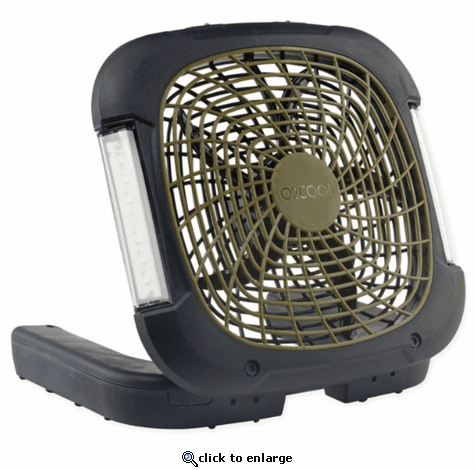 O2COOL Treva 10-inch Portable Camping Fan with Lights