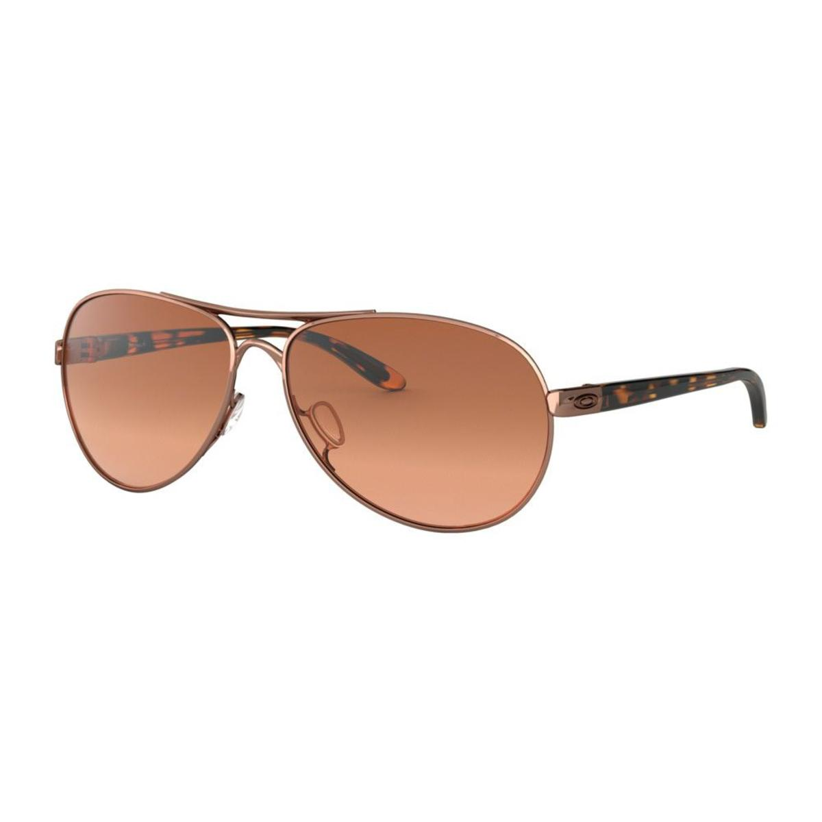 Oakley Feedback Rose Gold Sunglasses W Vr50 Brown Gradient The Warming Store