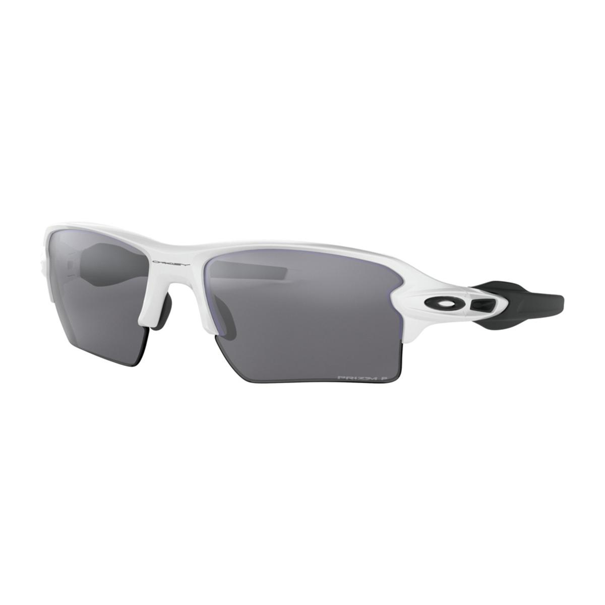 27566ba3a88 Oakley Flak 2.0 XL Polished White Black Sunglasses w Prizm Black Polarized  - The Warming Store