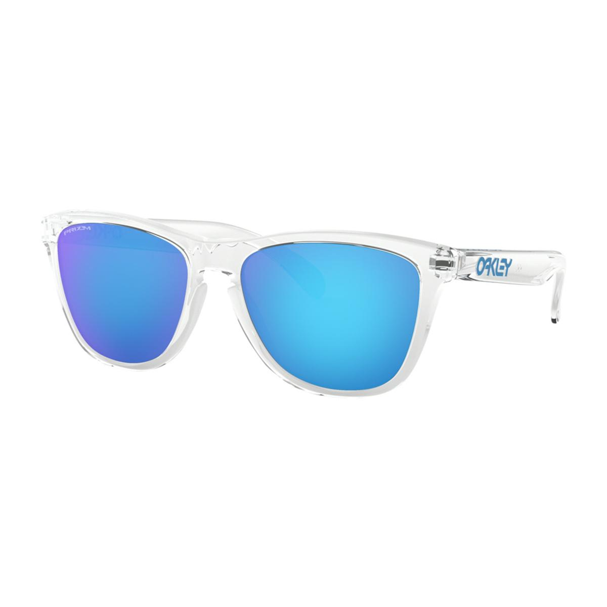 Oakley Frogskins Crystal Clear Sunglasses w Prizm Sapphire - The Warming  Store cc3d79ec15