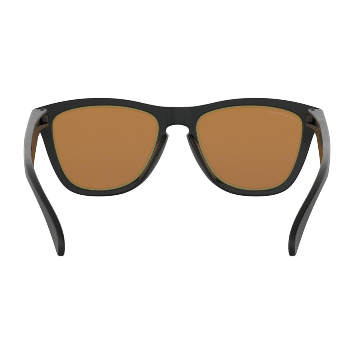 6e962727d3 Oakley Frogskins Fire and Ice Collection Matte Black Sunglasses w Prizm  Bronze - The Warming Store