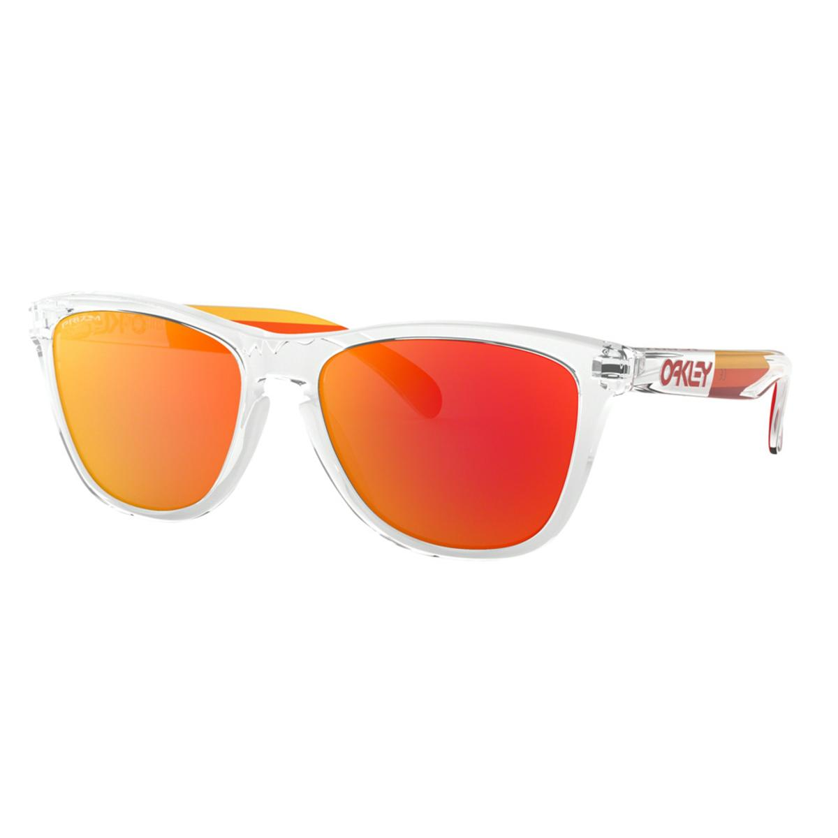 1d20ccbdfc1 Oakley Frogskins Grips Collection Polished Clear Sunglasses w Prizm Ruby -  The Warming Store