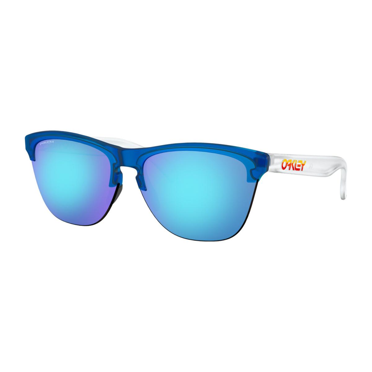 4150a8ef1e Oakley Frogskins Lite Grips Collection Translucent Sunglasses w Prizm  Sapphire - The Warming Store
