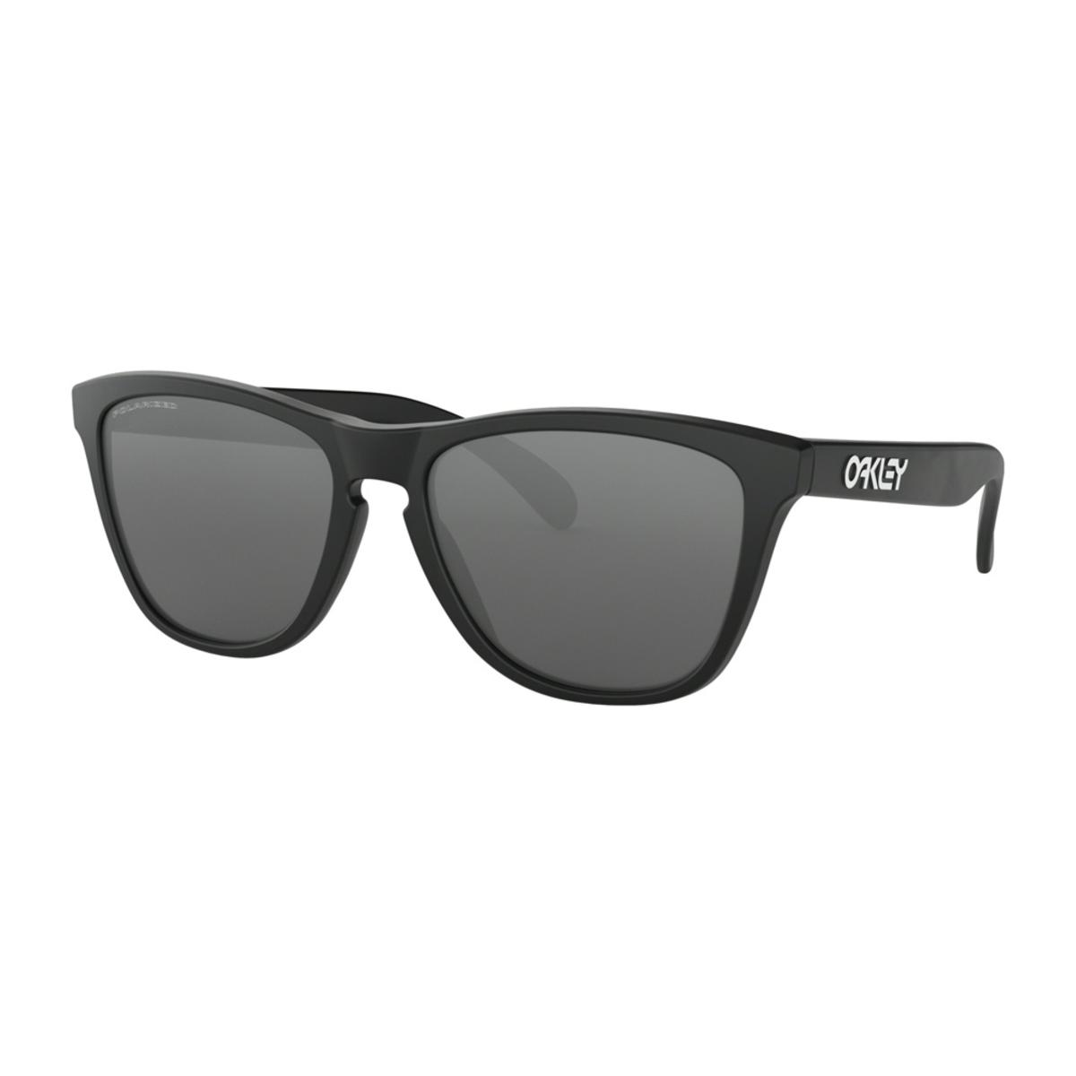 415b07a642 Oakley Frogskins Matte Black Sunglasses w Black Iridium Polarized - The  Warming Store