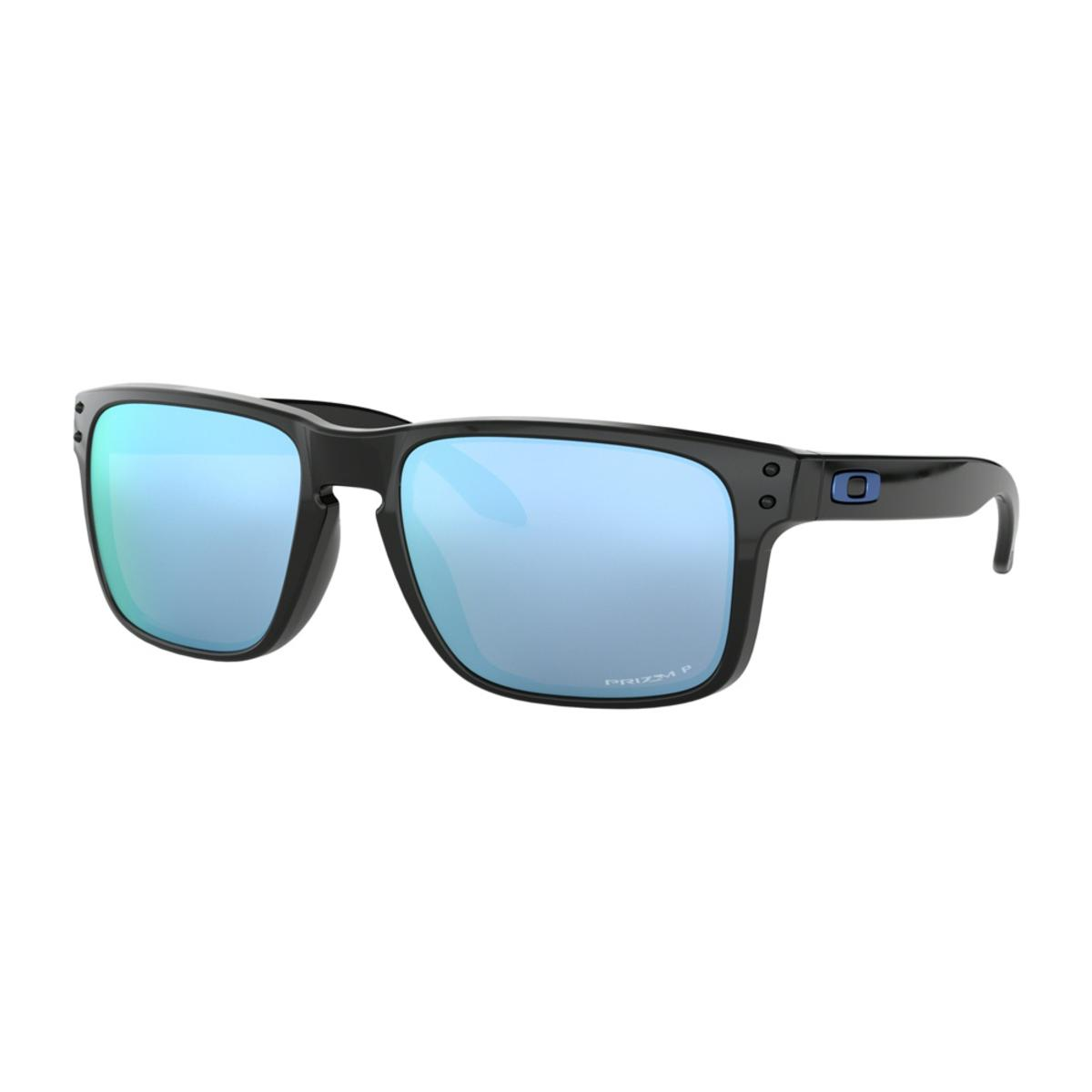 c7307103d2 Oakley Holbrook Polished Black Sunglasses w Prizm Deep Water Polarized -  The Warming Store