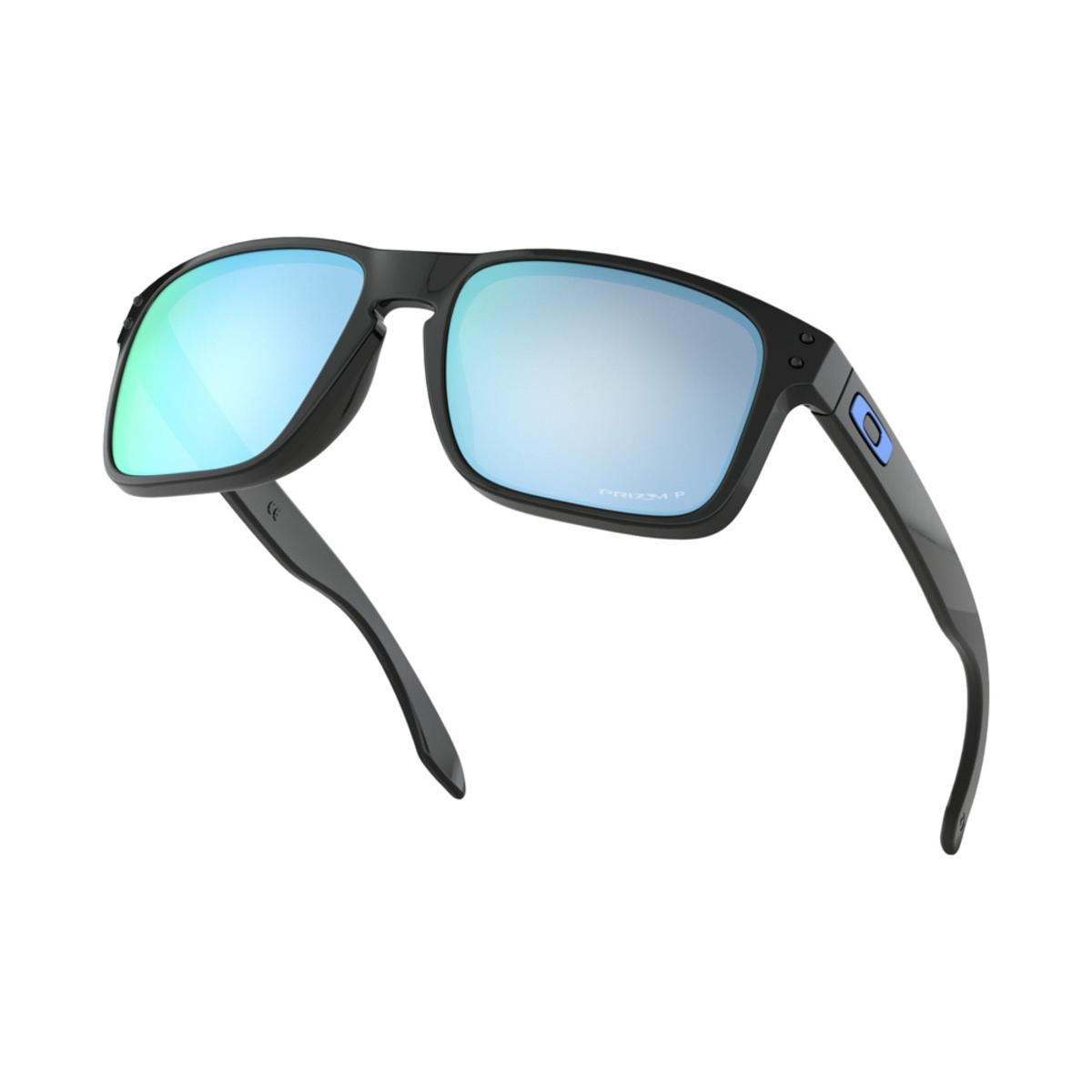 3882ab5d786 Oakley Holbrook Polished Black Sunglasses w Prizm Deep Water Polarized -  The Warming Store