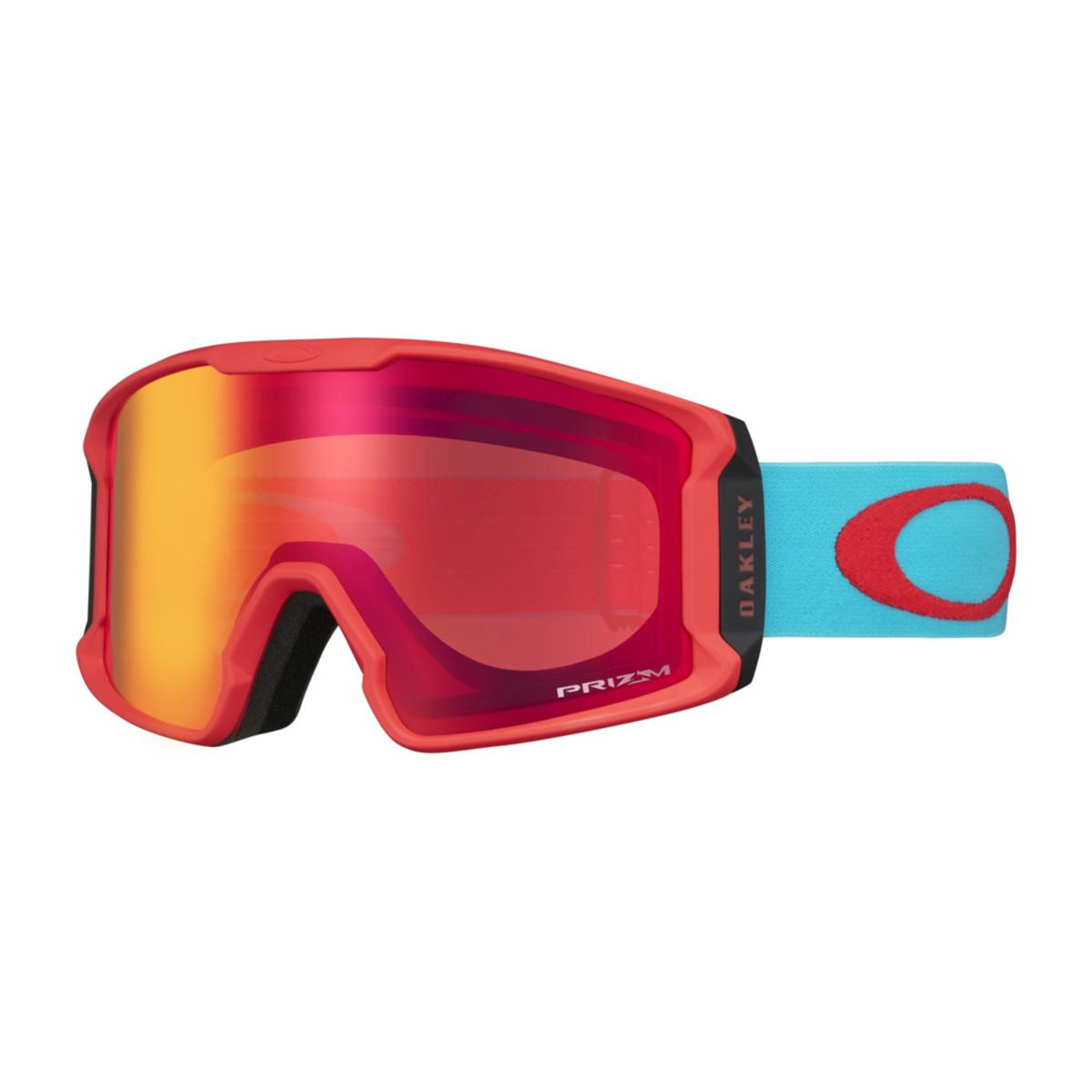 a5ae2d4ae8d Oakley Line Miner XM Caribbean Sea Red Snow Goggle w Prizm Snow Torch  Iridium - The Warming Store