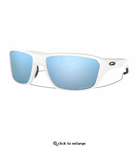03c7be30d190d Oakley Split Shot Polished White Sunglasses w Prizm Deep Water Polarized
