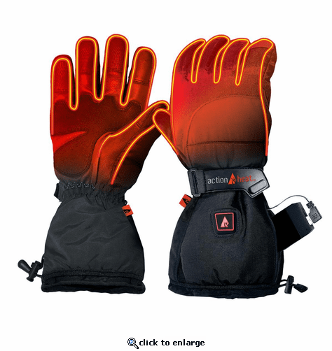 Open Box ActionHeat 5V Battery Heated Snow Gloves - Men's