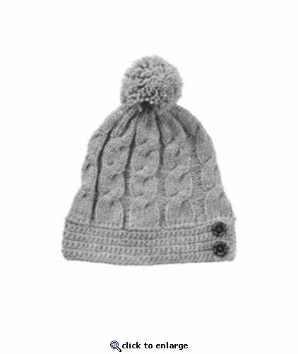 Peter Grimm Analog Grey Pom Beanie