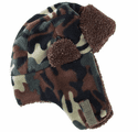 Artex Polar Fleece Camo Aviator Hat