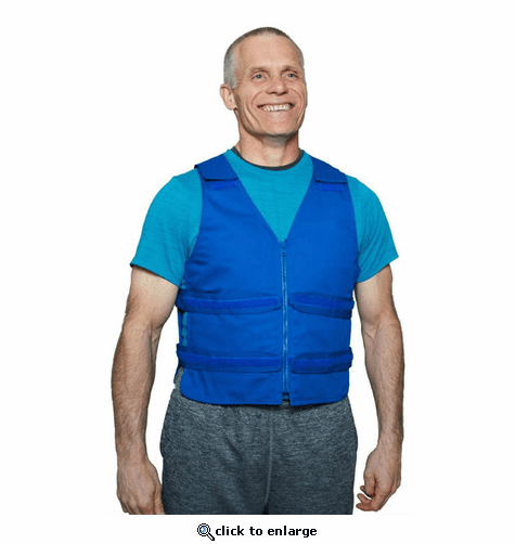 Polar Products Cool58 Phase Change Adjustable Front Zipper Cooling Vest for Sizes S/M, M/L & L/XL