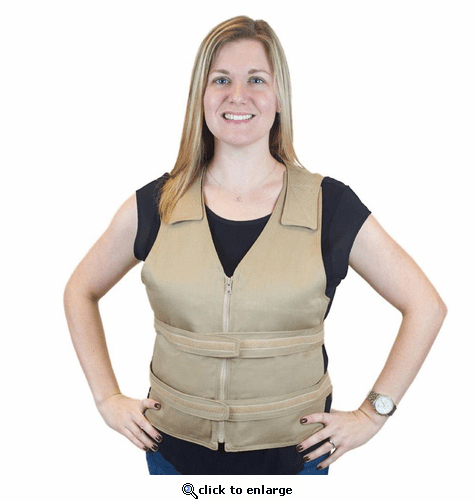 Polar Products Cool58 Phase Change Adjustable Front Zipper Cooling Vest for Sizes XL/XXL & 2XL/3XL