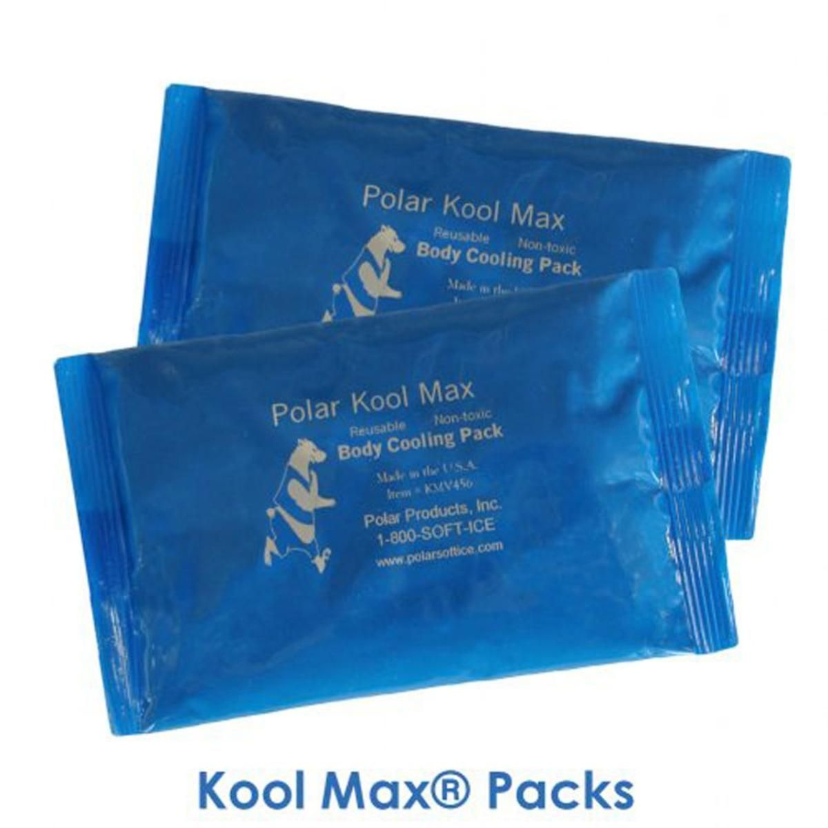 Polar Products Extra Set Of Kool Max Cooling Packs For Sizes 2Xl 3Xl 4Xl Pack 10
