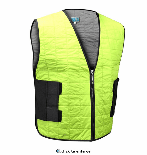 Radians Arctic Radwear Evaporative Cooling Vest Wear Dry Zipper - High Visibility Lime