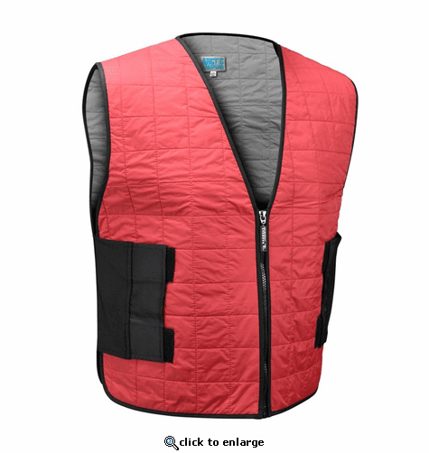 Radians Arctic Radwear Evaporative Cooling Vest Wear Dry Zipper - Red