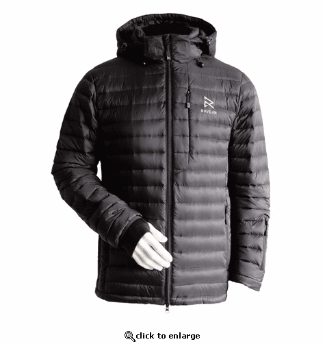 Ravean Men's Down Heated Jacket with 12V Battery Kit